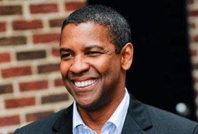 NEW YORK - JUNE 11:  Actor Denzel Washington visits the